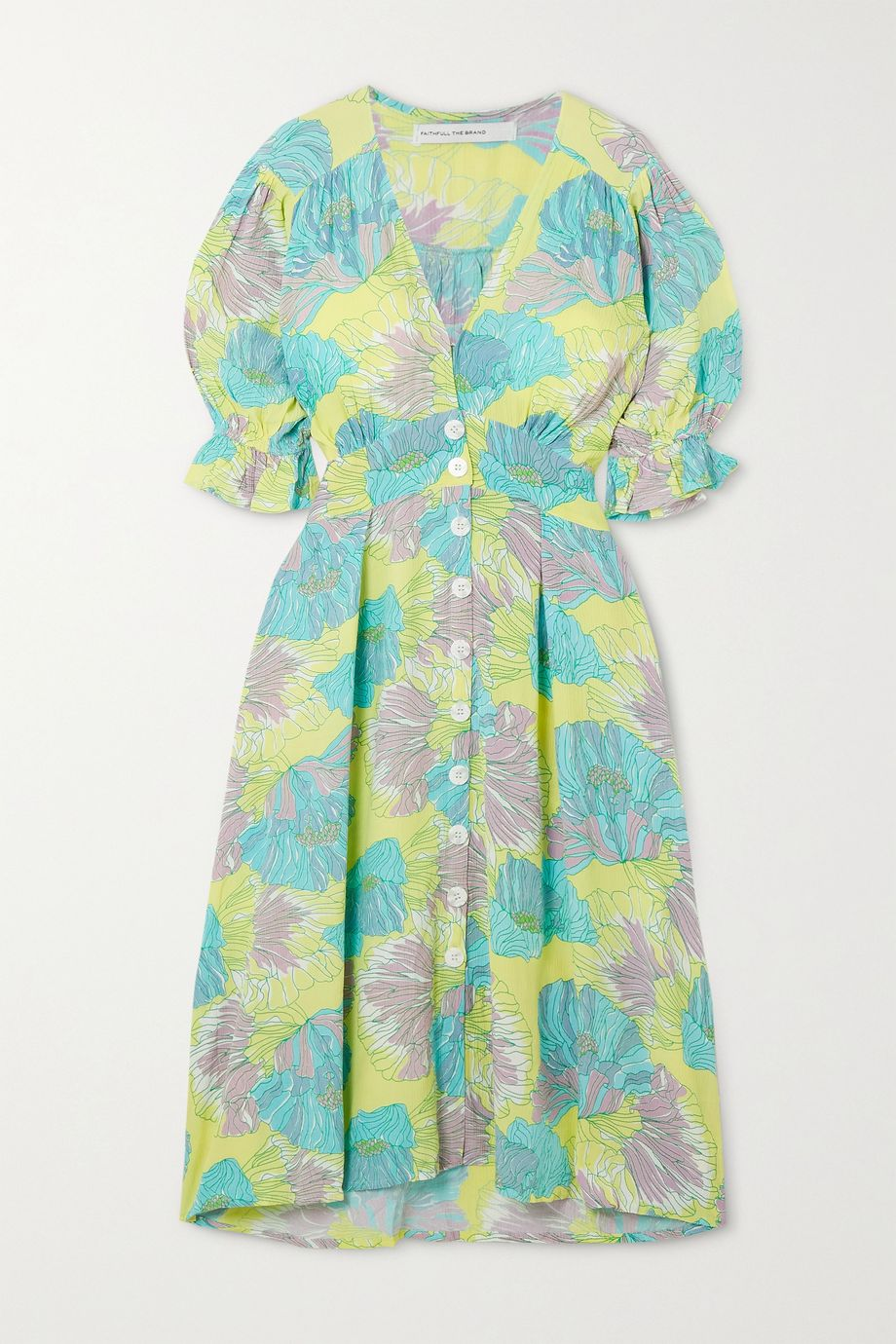 Faithfull The Brand Rafa floral-print crepe midi dress