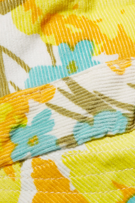 Faithfull The Brand Floral-print cotton-corduroy sunhat