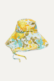 Faithfull The Brand Floral-print cotton-corduroy bucket hat