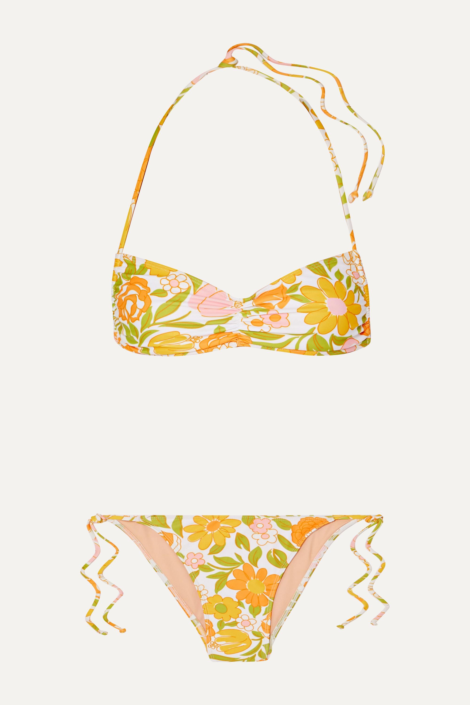 Faithfull The Brand Hanna ruched floral-print bikini