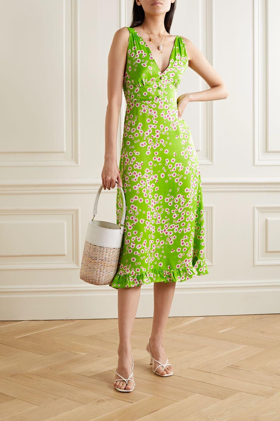 Faithfull The Brand Emili floral-print crepe de chine dress