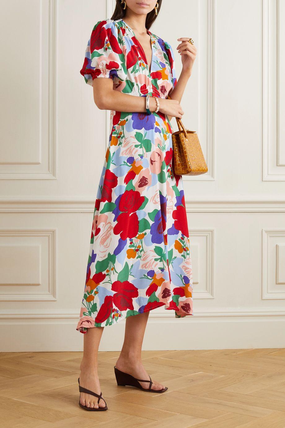 Faithfull The Brand Vittoria floral-print crepe midi dress