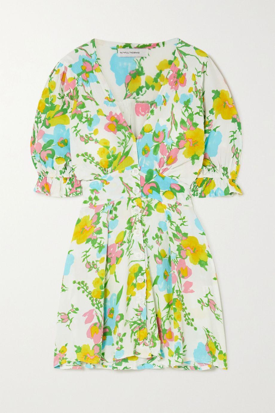 Faithfull The Brand Caliente floral-print crepon mini dress