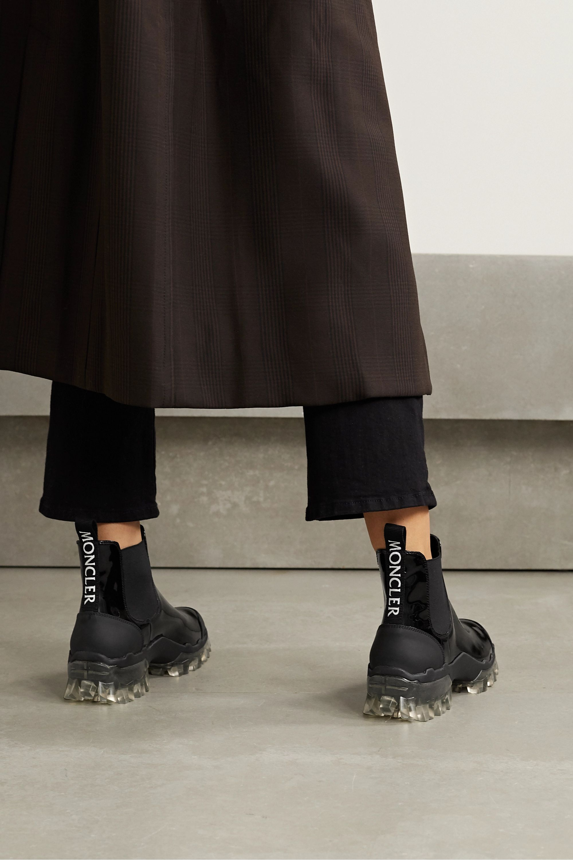 Moncler Hanya patent-leather Chelsea rain boots