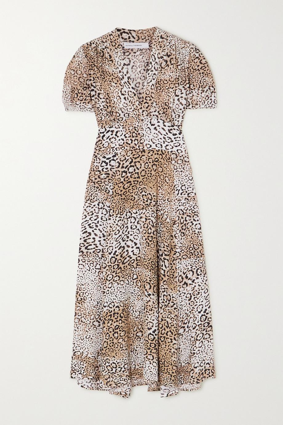 Faithfull The Brand Meadows leopard-print crepe midi dress