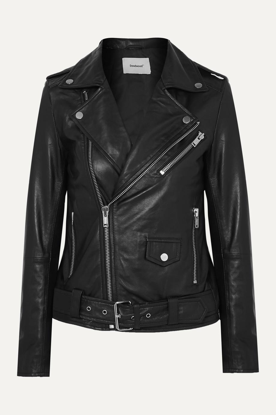 Deadwood + NET SUSTAIN Classic Biker leather jacket