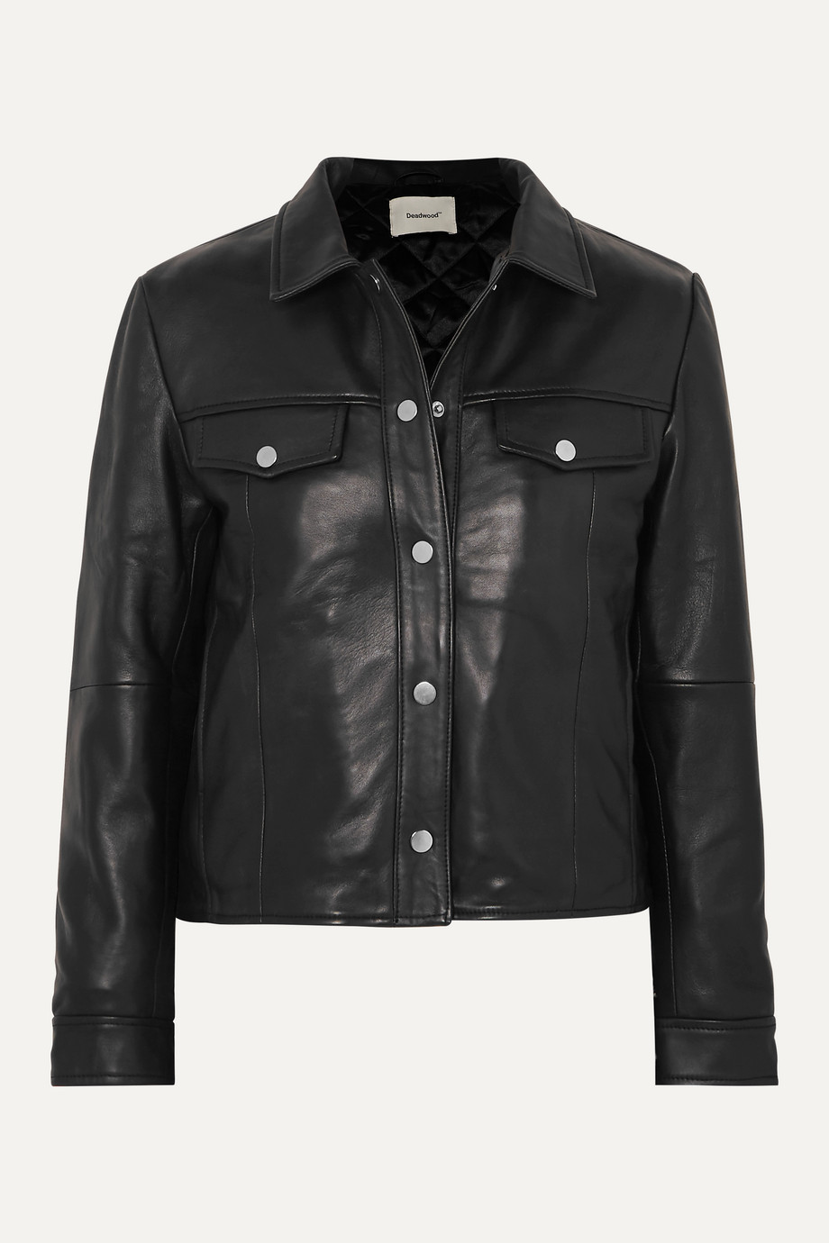 Deadwood + NET SUSTAIN Frankie leather jacket