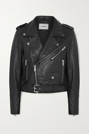 Deadwood + NET SUSTAIN Joan leather biker jacket