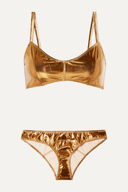 Genevieve metallic stretch-PVC bikini