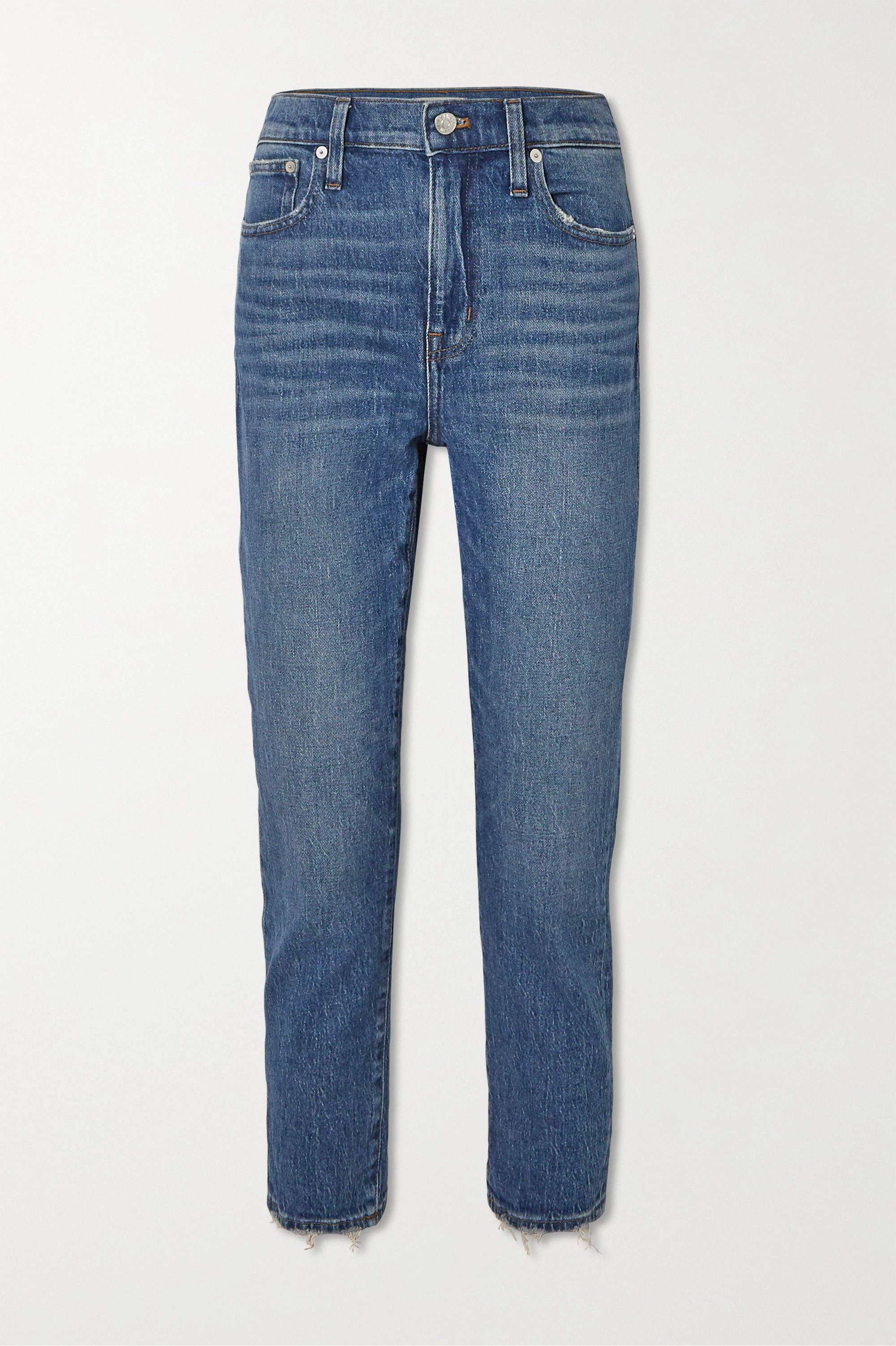 Madewell Cropped distressed high-rise slim-leg jeans