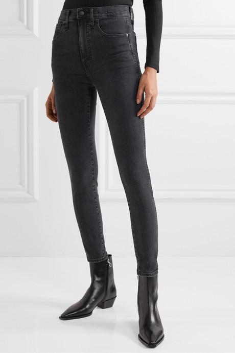 High-rise skinny jeans