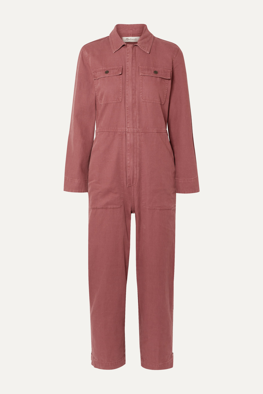Madewell Holiday denim jumpsuit