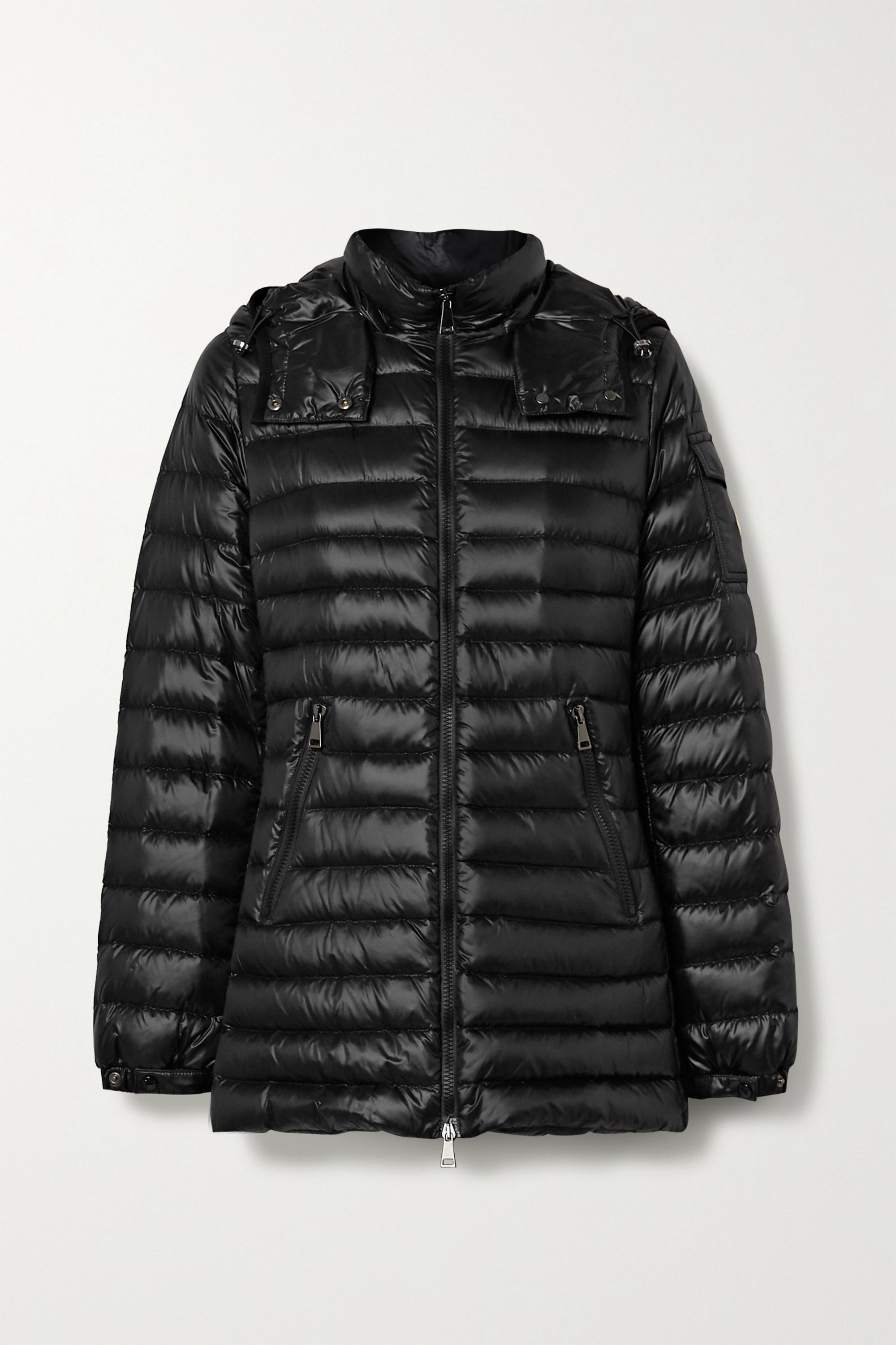 Menthe hooded quilted shell down jacket