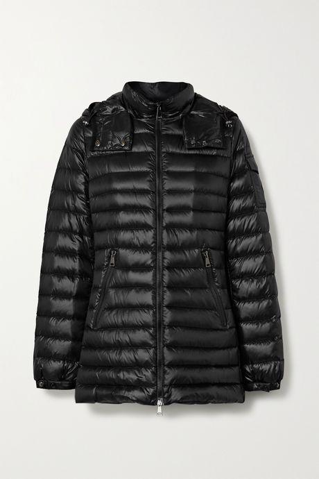 Black Menthe hooded quilted shell down jacket | Moncler Gob6GY