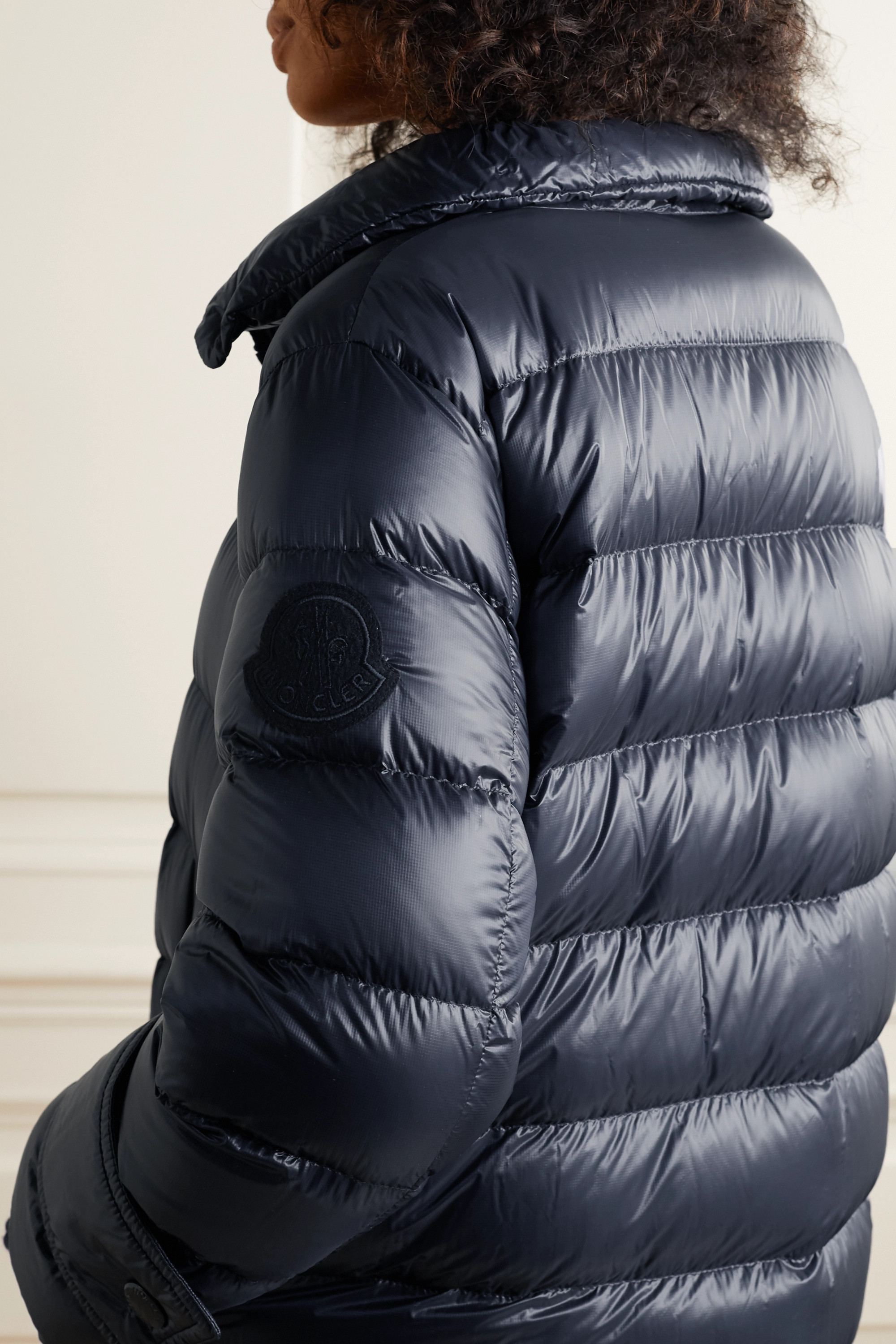 Cobalt hooded quilted down coat   Moncler   MATCHESFASHION US