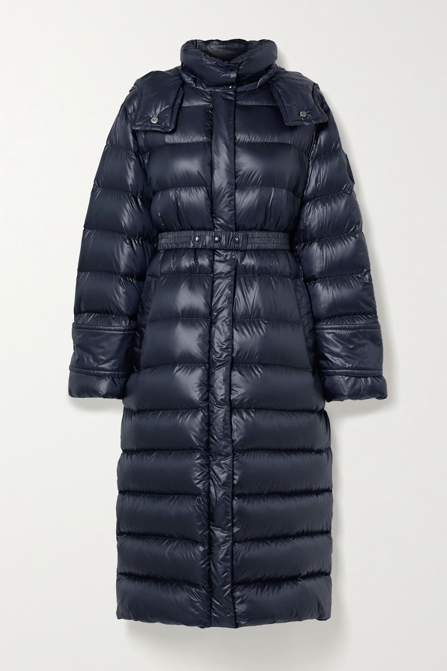 Moncler Cobalt hooded quilted ripstop down coat
