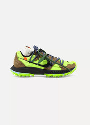 Nike + Off-White Zoom Terra Kiger 5 faux suede and mesh sneakers