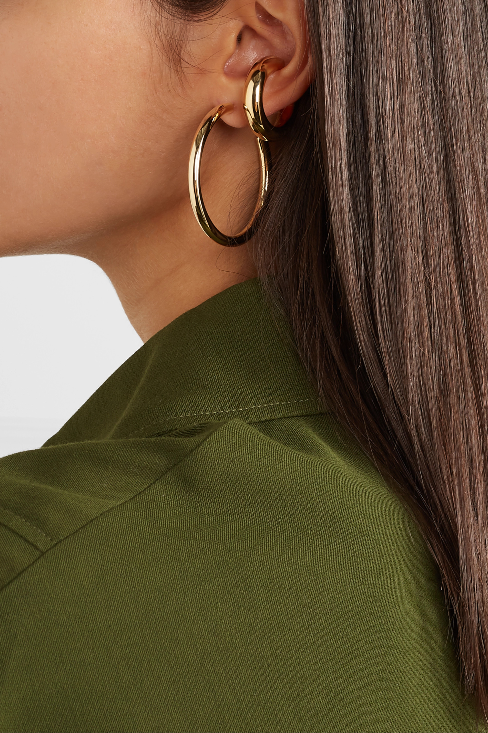 Jennifer Fisher Samira gold-plated ear cuff