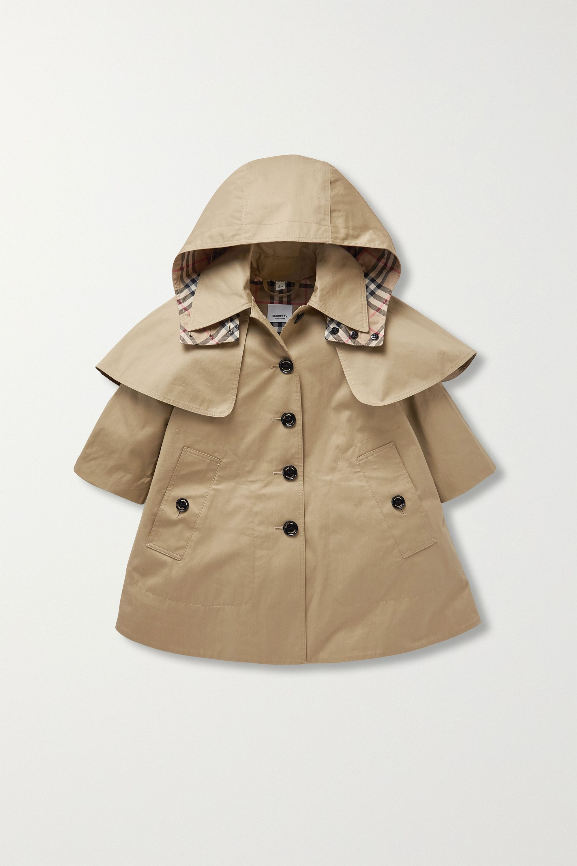 Burberry Kids Ages 3 - 12 cotton-gabardine trench coat