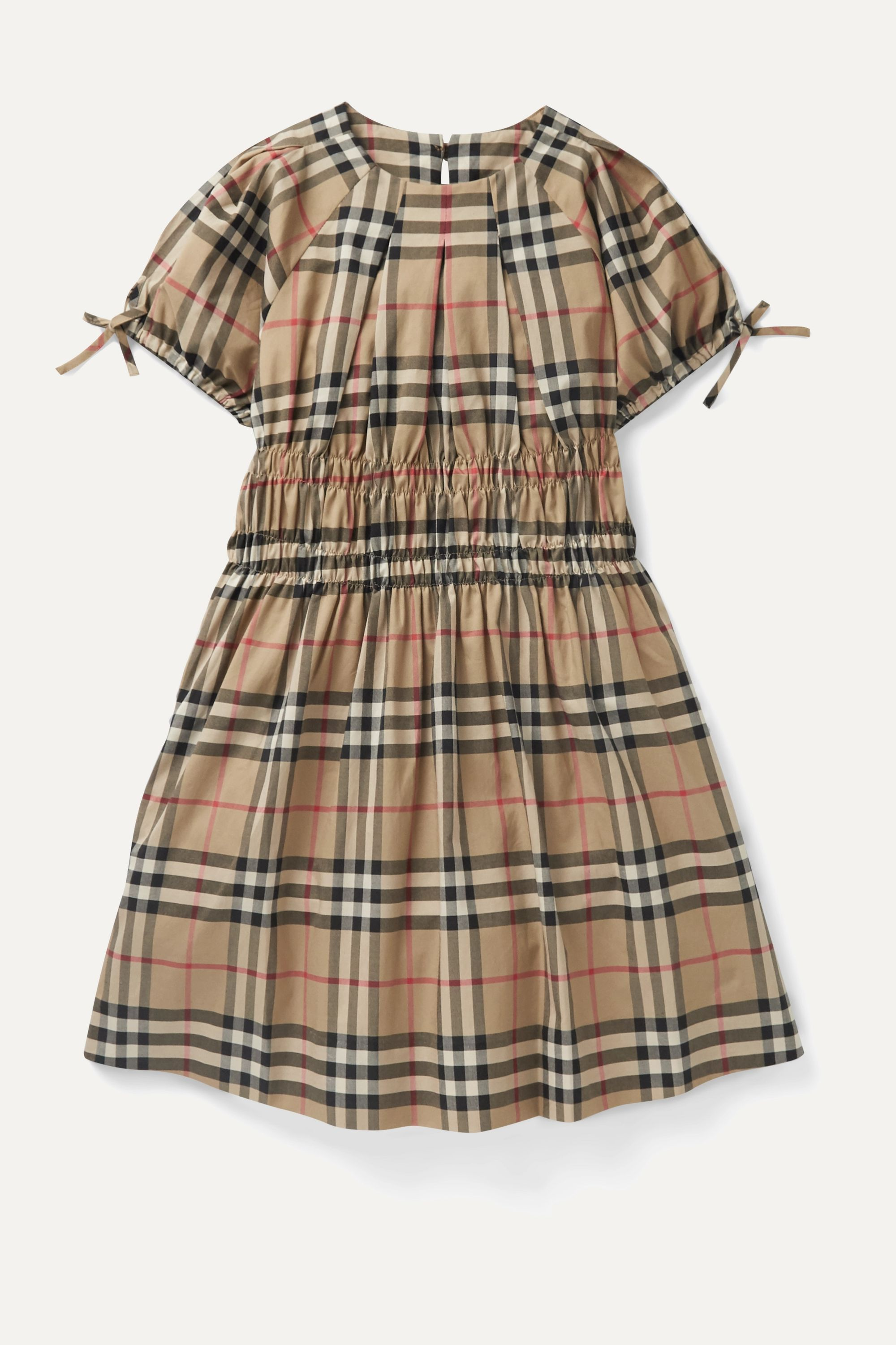 Burberry Kids Ages 4 - 12 checked cotton-poplin dress