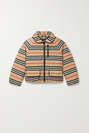 Ages 3 - 12 striped shell down coat