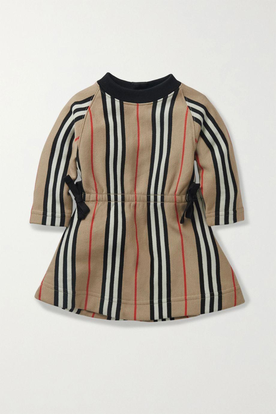 Burberry Kids 【6 - 24 月龄】条纹纯棉平纹布连衣裙