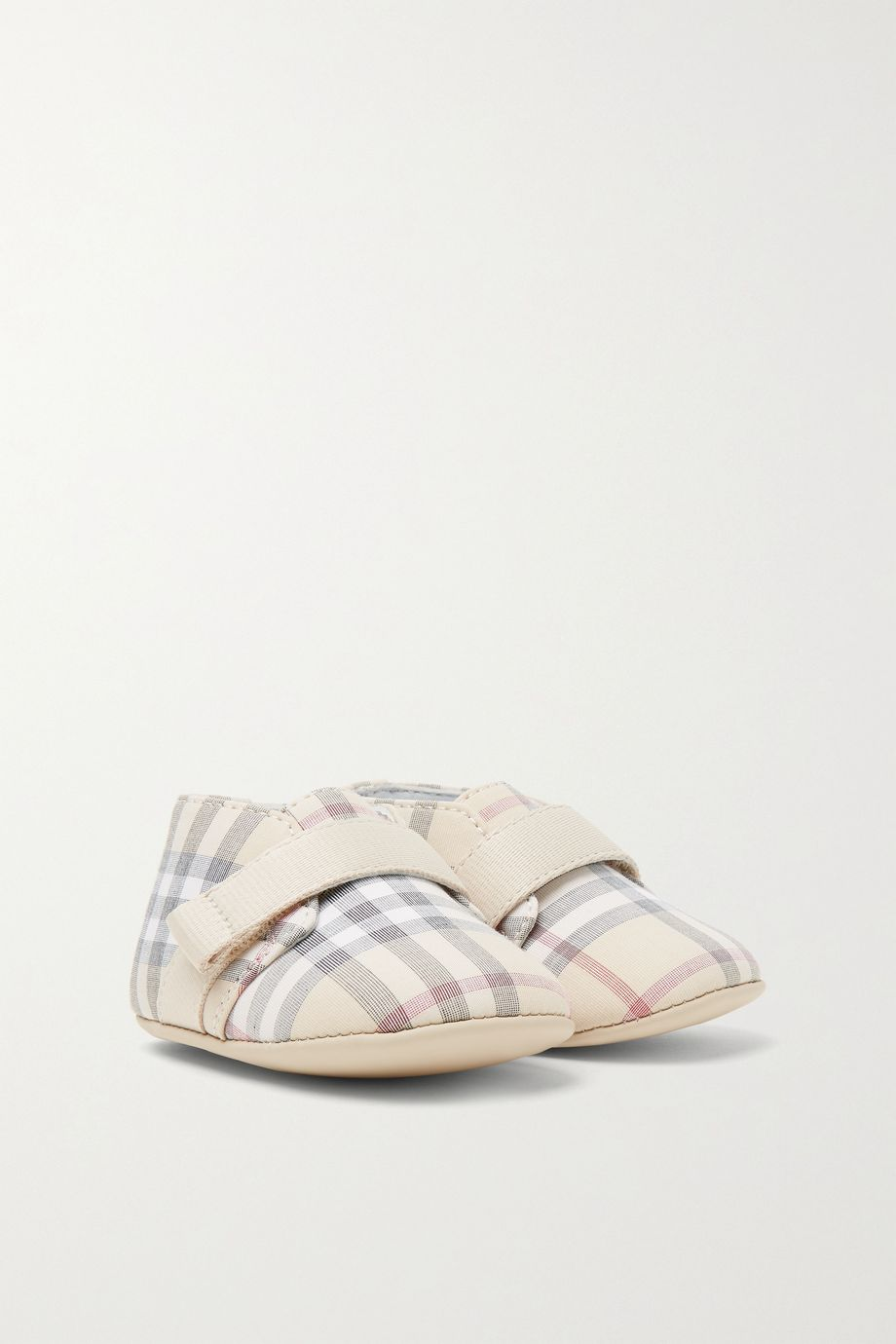 Burberry Kids Sizes 15 - 19 checked cotton-poplin booties