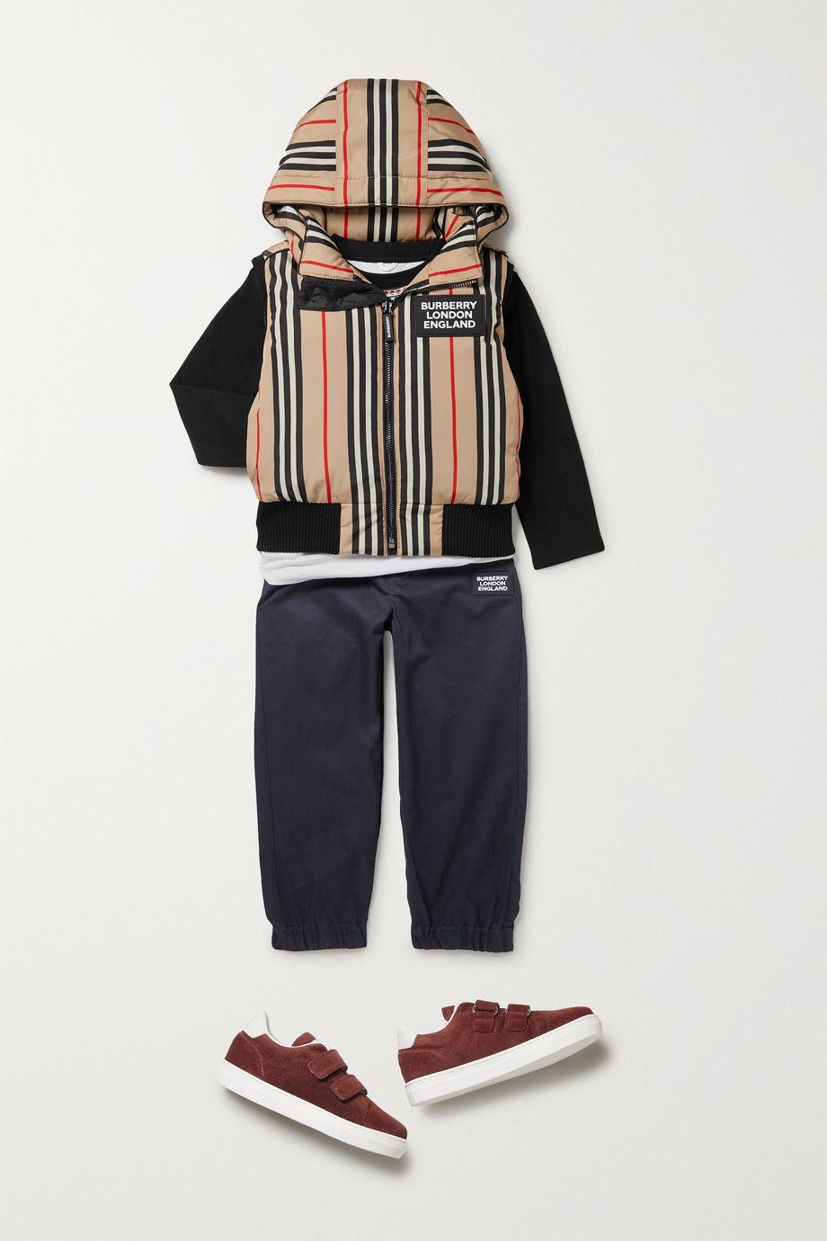 Burberry Kids 【3 - 12 岁】贴花纯棉斜纹布休闲裤