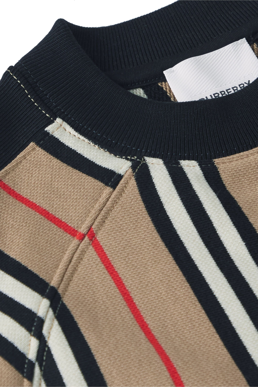 Burberry Kids Ages 3 - 12 striped cotton-jersey sweatshirt