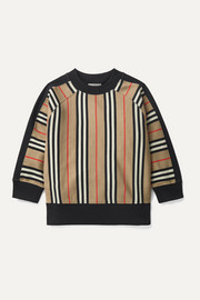 Burberry Kids Ages 3 - 12 striped cotton-jersey sweatshirt