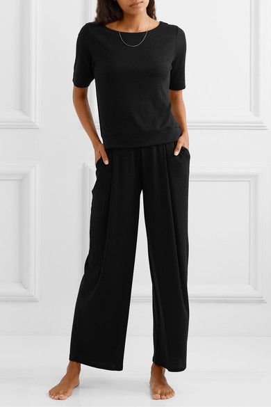Neha Ribbed Stretch Pima Cotton And Modal Blend Top by Skin