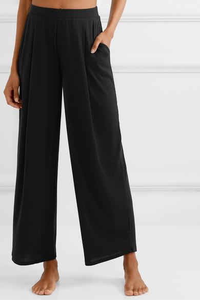 Skin Pants Nola ribbed stretch-Pima cotton and modal-blend pajama pants