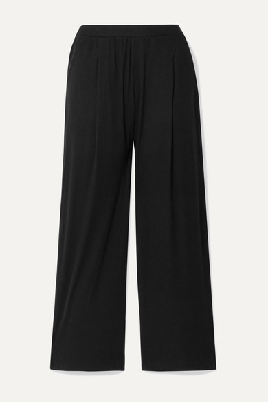Nola Ribbed Stretch Pima Cotton And Modal Blend Pajama Pants by Skin