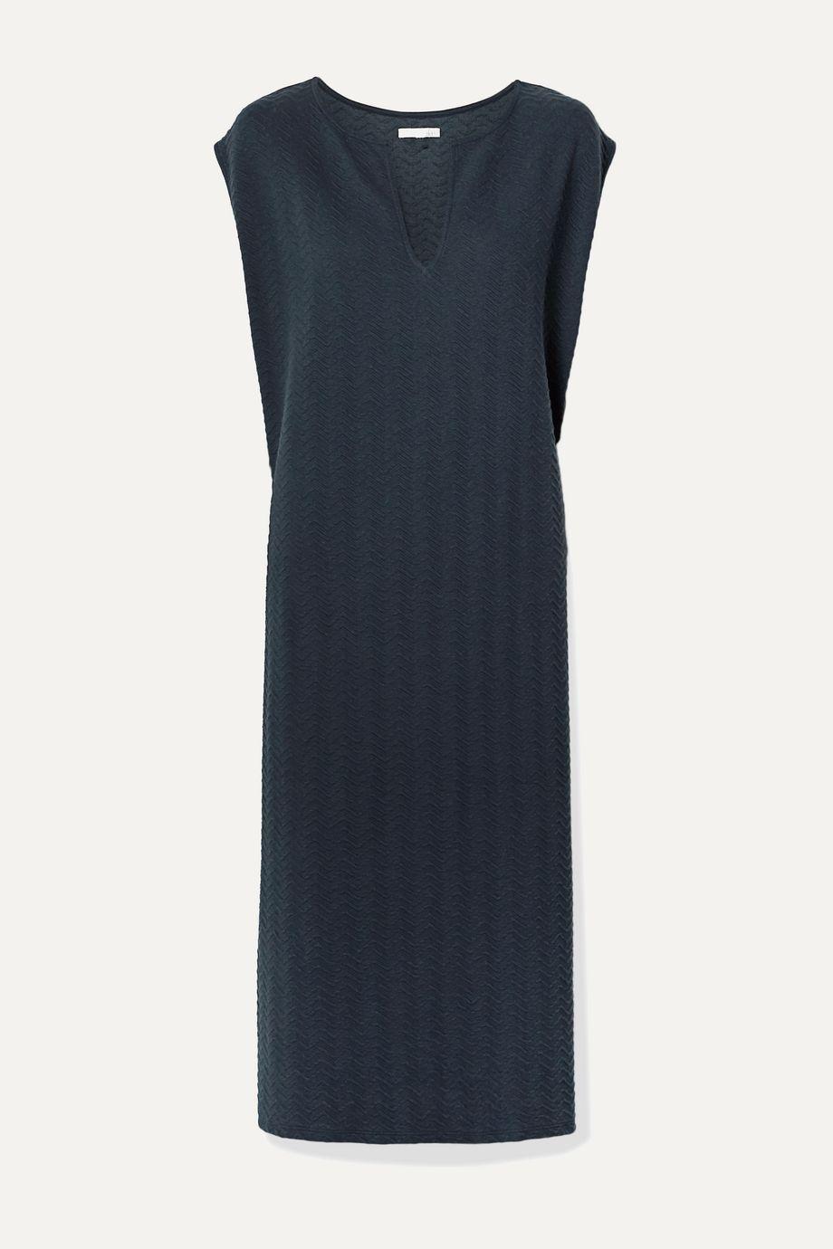 Skin Catalina Midikleid aus strukturierter Stretch-Baumwolle