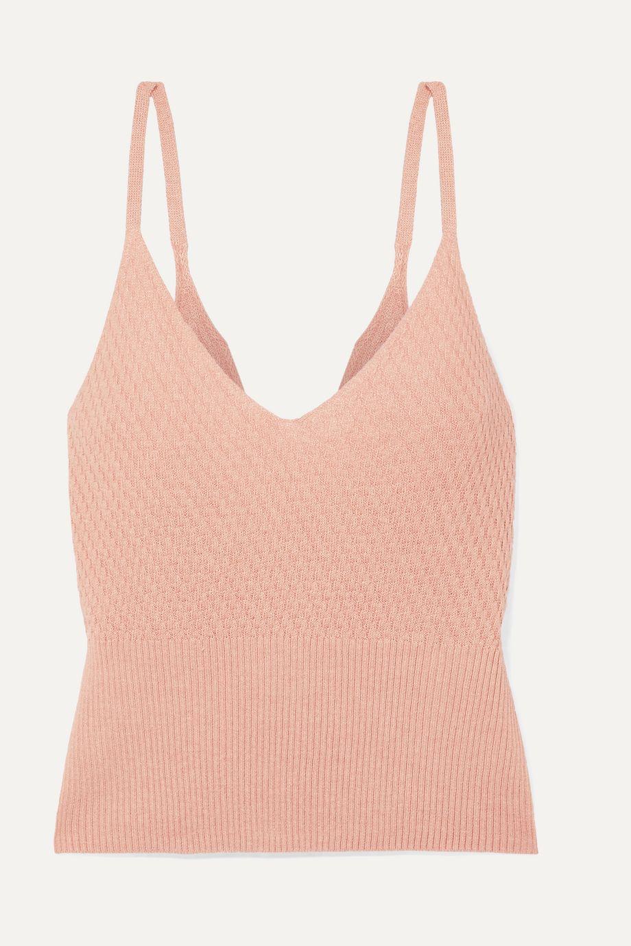 Skin Deidre cropped cotton-blend camisole