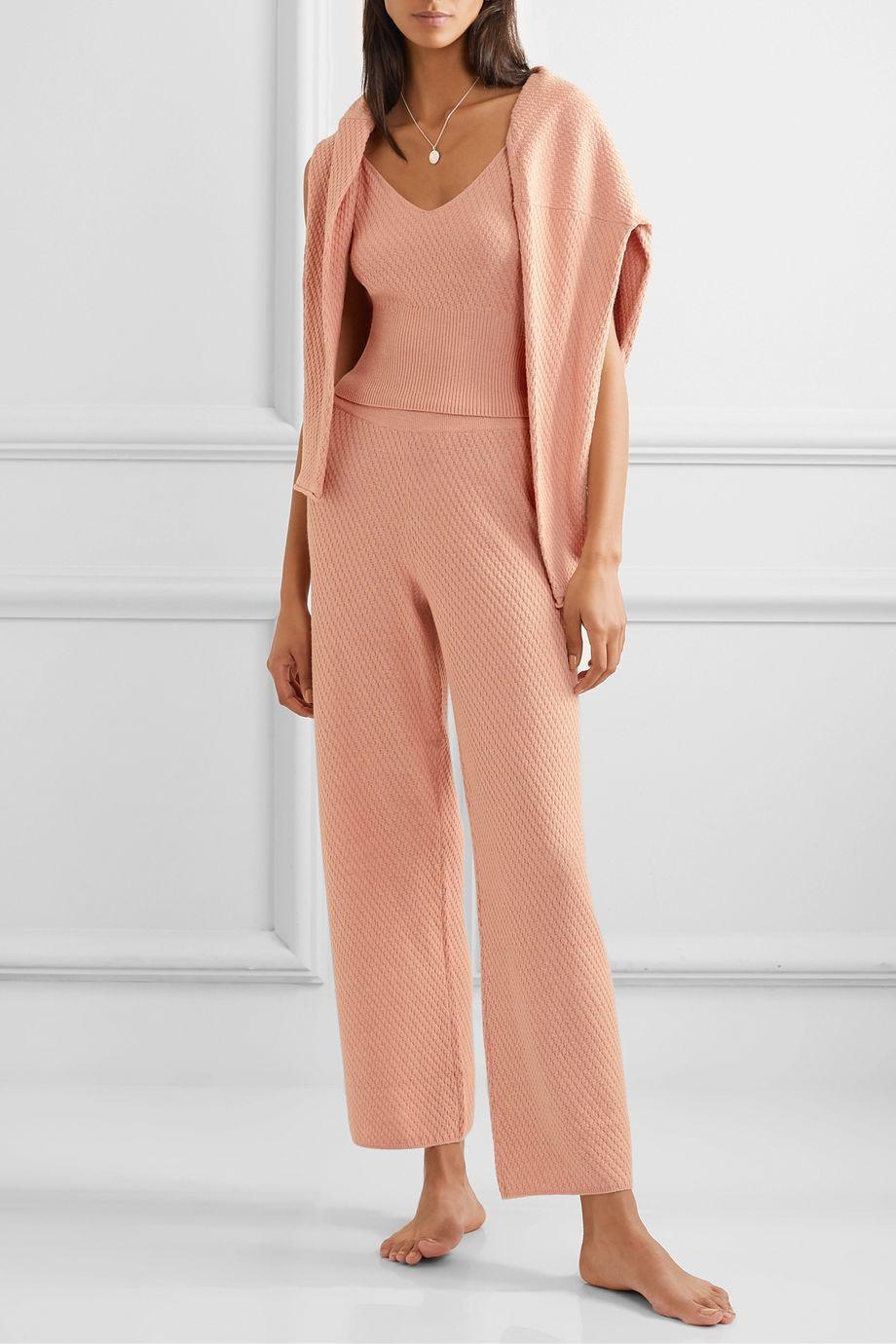 Skin Kamala cotton-blend wide-leg pants