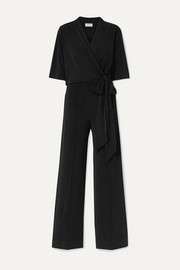 By Malene Birger Zhou wrap-effect stretch-crepe jumpsuit