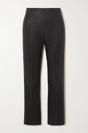 By Malene Birger Florentina stretch-leather slim-leg pants