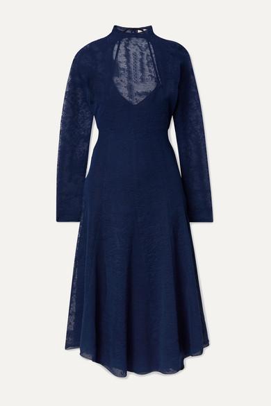 Lampas Open Back Jacquard Knit Midi Dress by By Malene Birger