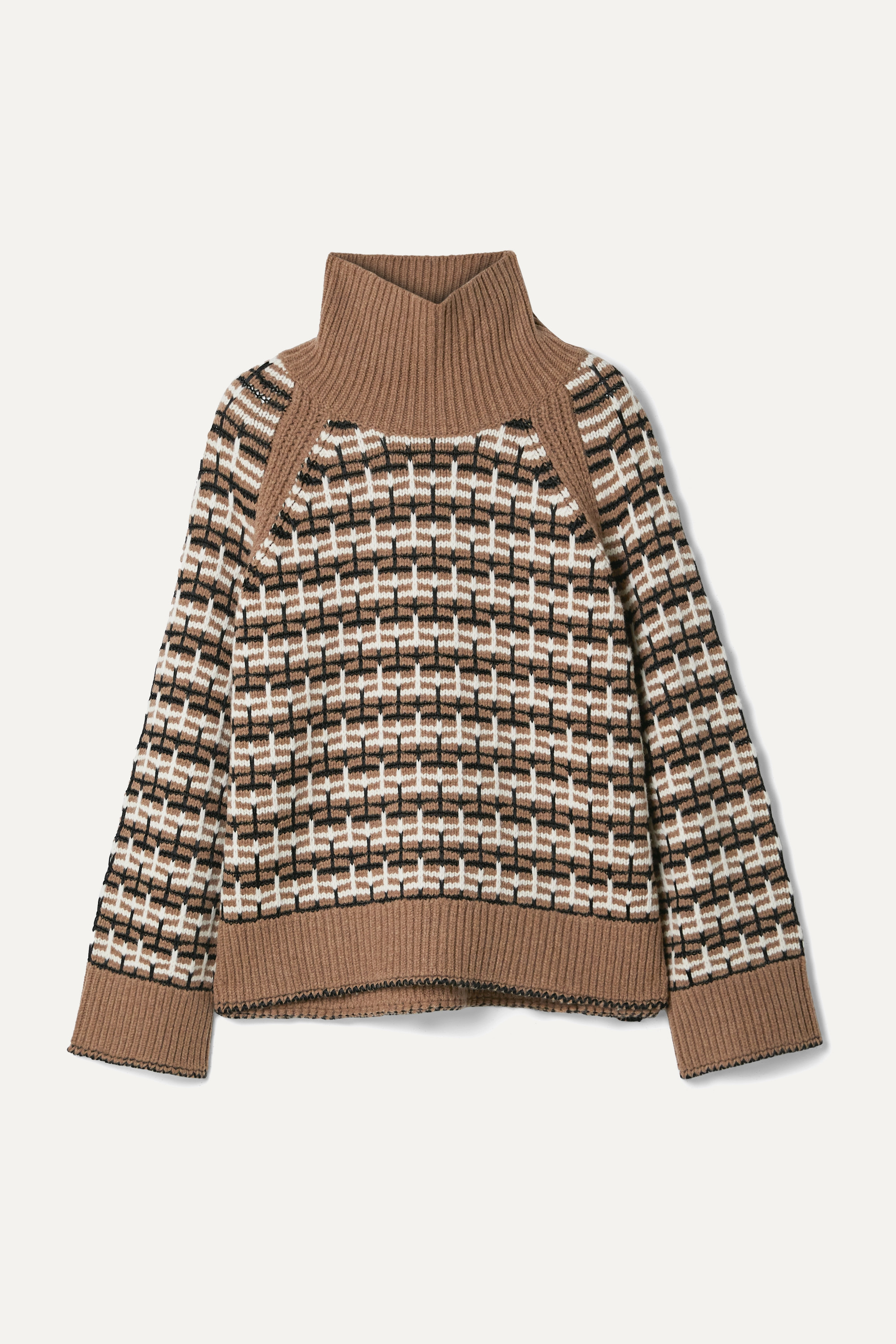 By Malene Birger Lygos intarsia merino wool-blend turtleneck sweater