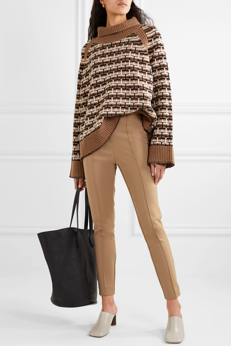 By Malene Birger Pantalon skinny en cady de coton mélangé stretch Adelio