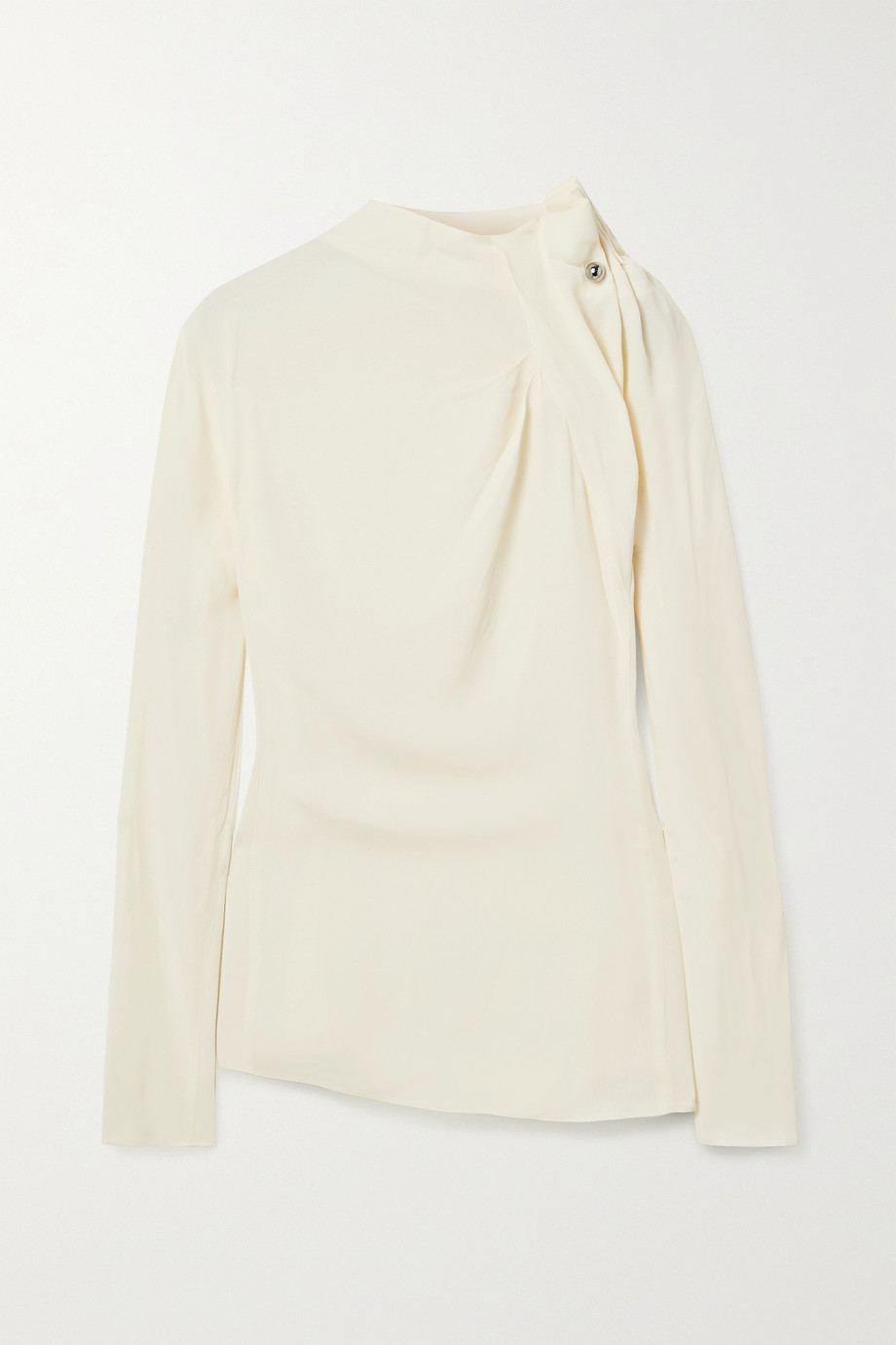 By Malene Birger Diora embellished gathered crepe blouse