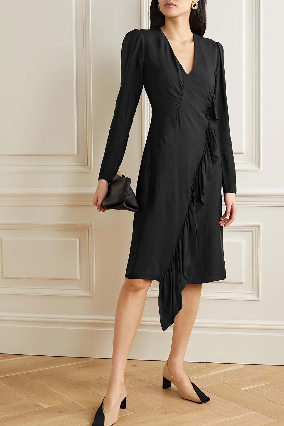 By Malene Birger Orixt asymmetric ruffled crepe dress