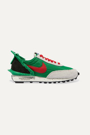 Nike + Undercover Daybreak leather-trimmed shell and suede sneakers