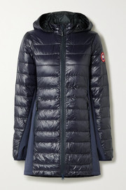 Canada Goose Hybridge Lite jersey-trimmed hooded quilted ripstop down coat