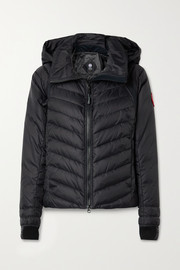 Canada Goose HyBridge Base jersey-trimmed hooded quilted shell down jacket
