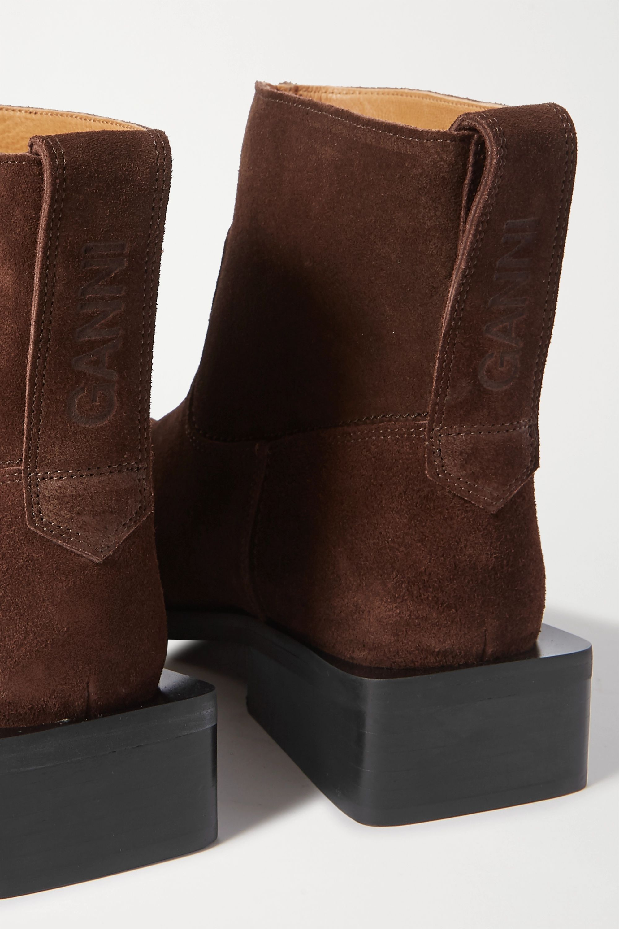 GANNI Suede ankle boots