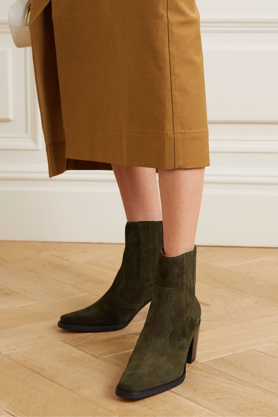 GANNI Callie suede ankle boots