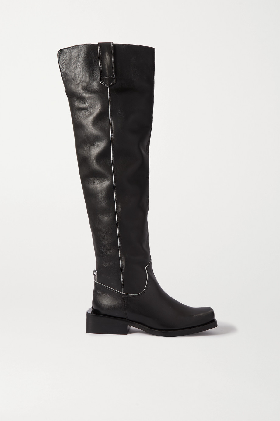 GANNI MC leather over-the-knee boots