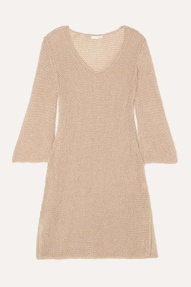 Skin Dresses LENORA CROCHETED COTTON MINI DRESS